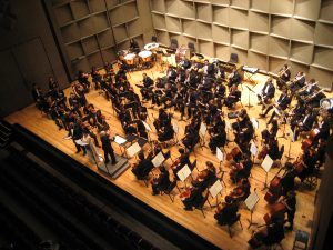 Susan Deaver conducting the University Orchestra at Stony Brook University