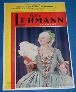 Lehmann recital